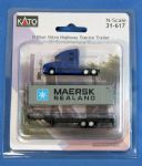 Kato 31-617 N Volvo Highway Tractor Trailer 40' Maersk Container